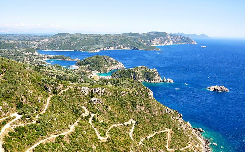 Aménagez en parc sur l'île de Corfou, Grèce, l'Europe photos stock