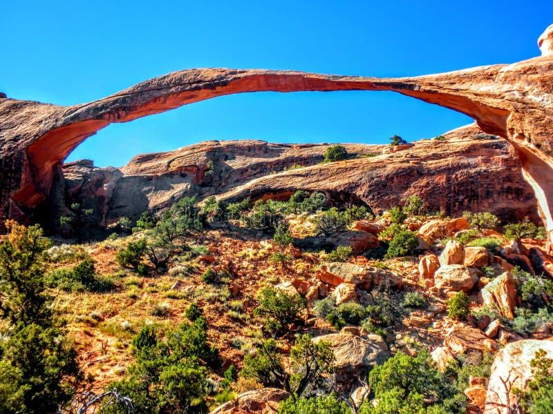 Aménagez la voûte en parc, voûtes parc national, Utah, un du world& x27 ; plus longues envergures naturelles de s, jardin de diab images stock