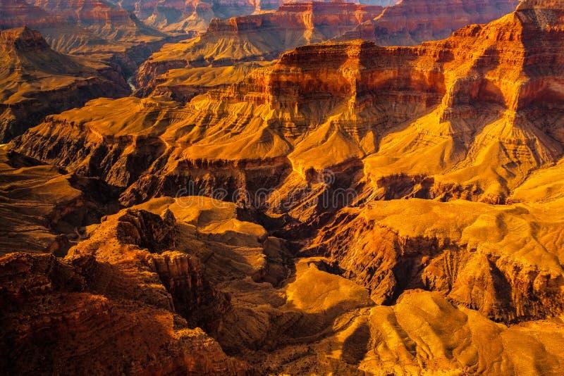 Aménagez la vue en parc de détail du canyon grand, Arizona photos libres de droits