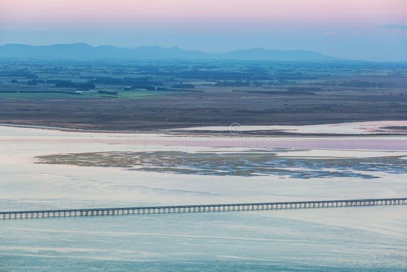Aménagez la vue en parc du bluff, Southland, Nouvelle-Zélande images libres de droits