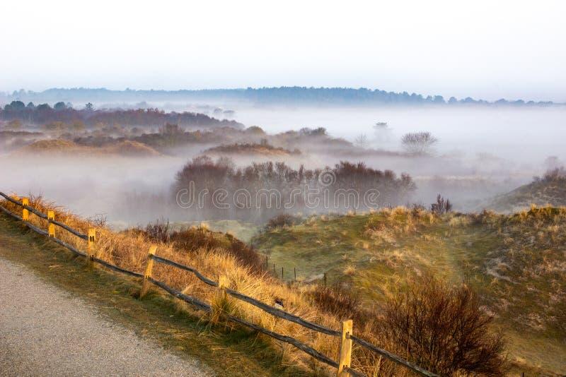 Aménagez la vue en parc en haut de l'île Schiermonnikoog aux Pays-Bas photos stock