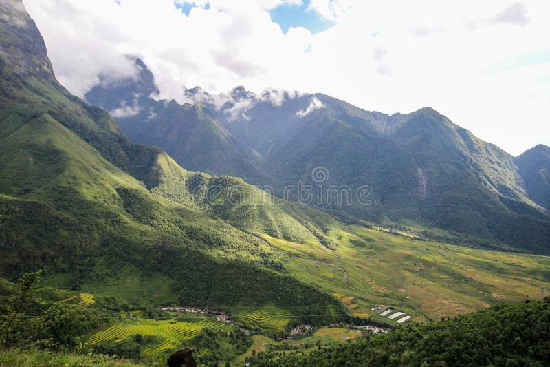 Aménagez le Mountain View en parc de Sapa, secteur de Sapa, Lao Cai Province, Vietnam du nord-ouest photo libre de droits