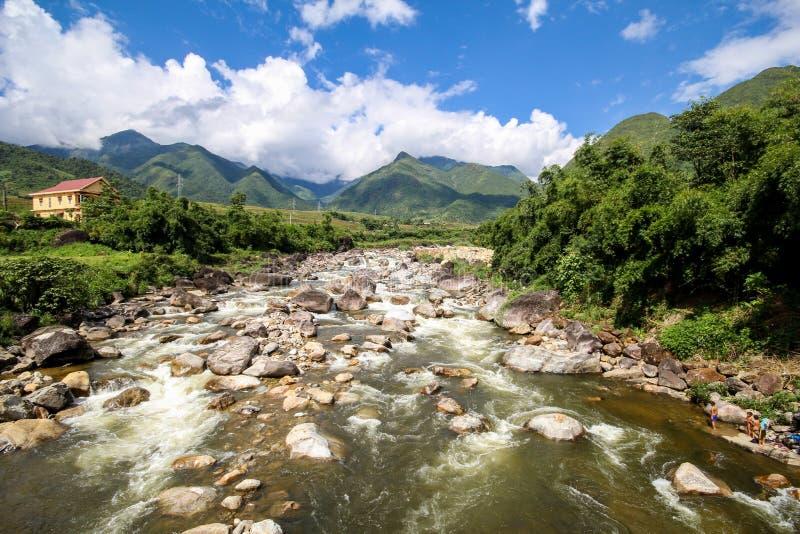 Aménagez le Mountain View en parc de Sapa, secteur de Sapa, Lao Cai Province, Vietnam du nord-ouest photos libres de droits