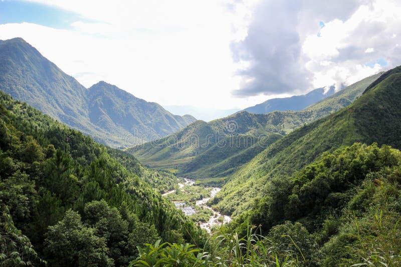 Aménagez le Mountain View en parc de Sapa, secteur de Sapa, Lao Cai Province, Vietnam du nord-ouest photographie stock