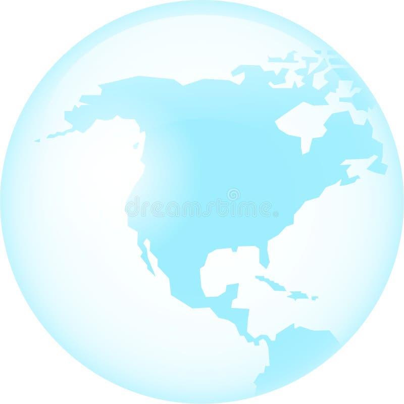 América de cristal stock de ilustración