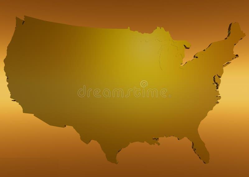 Download América dourada ilustração stock. Ilustração de gráfico - 540155