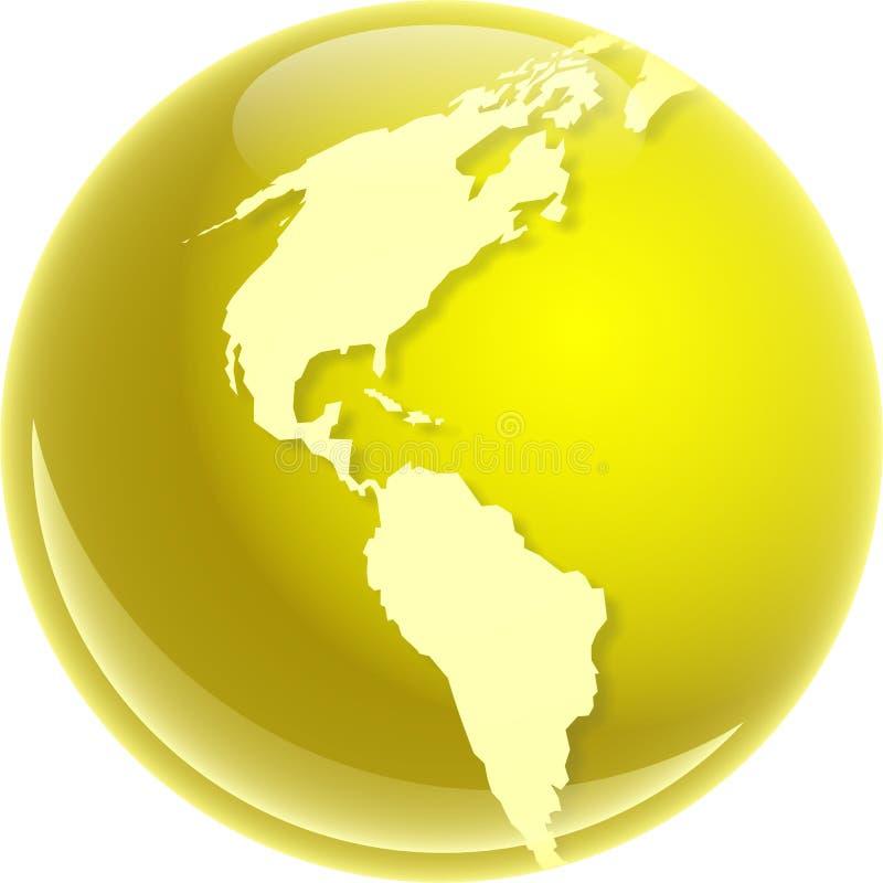 América dourada ilustração stock