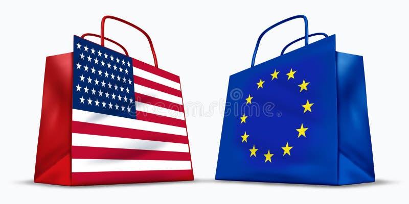 América e o comércio da União Europeia ilustração royalty free