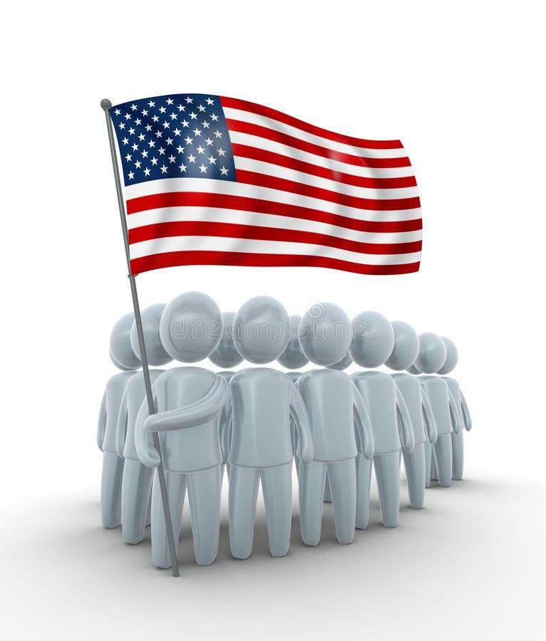 América forte ilustração do vetor