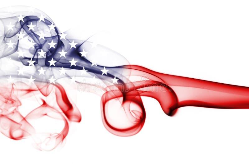 América, los E.E.U.U., bandera nacional del humo imágenes de archivo libres de regalías