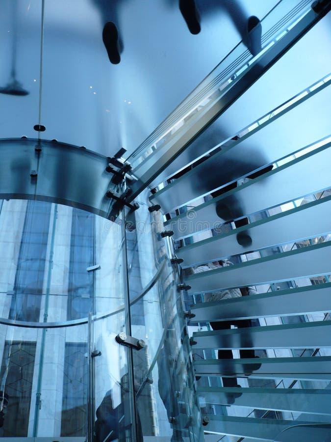 América - New York - escadaria de vidro fotografia de stock royalty free