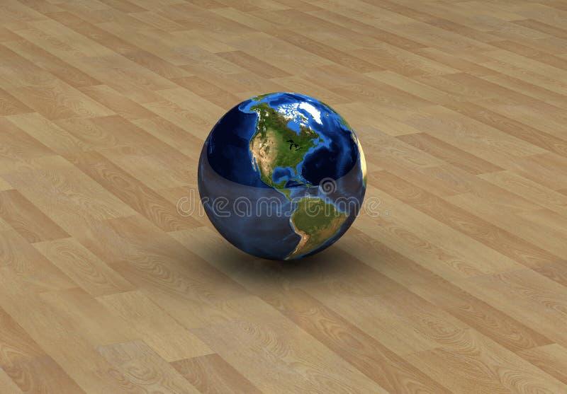 América no globo isolado ilustração do vetor