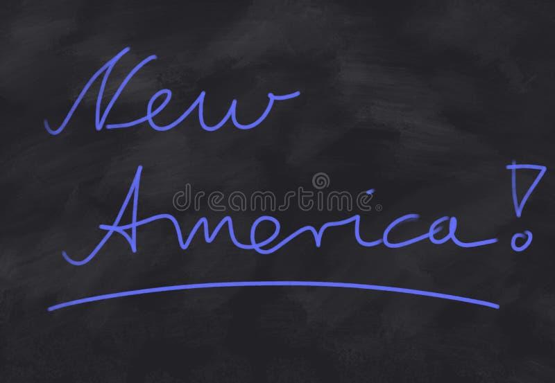 América nova! ilustração stock
