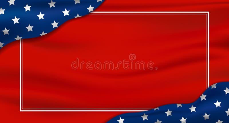 América ou EUA feriados fundo Dia da Independência do 4 de julho e a outra celebração ilustração do vetor