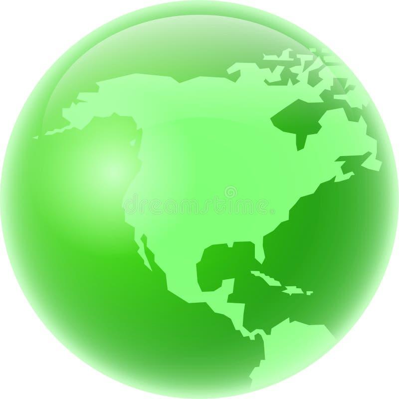 América verde stock de ilustración
