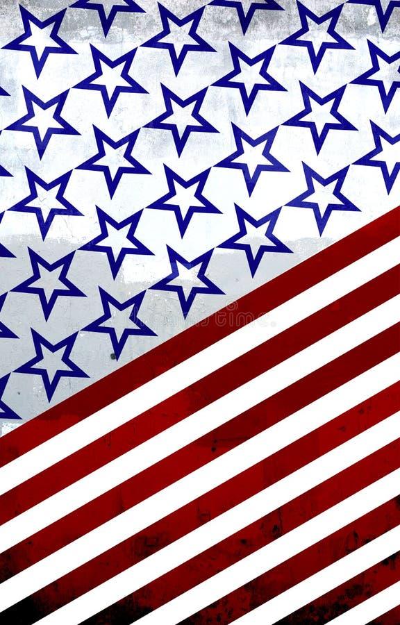 América: Vermelho, branco e azul ilustração royalty free