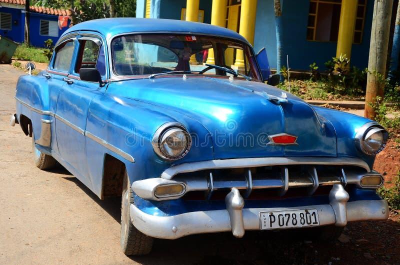 Américain Chevrolet dans Vinales, Cuba images libres de droits