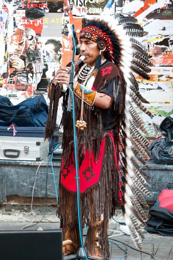 Américain dans le costume traditionnel images stock