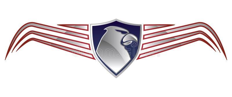 Américain Eagle Logo illustration de vecteur