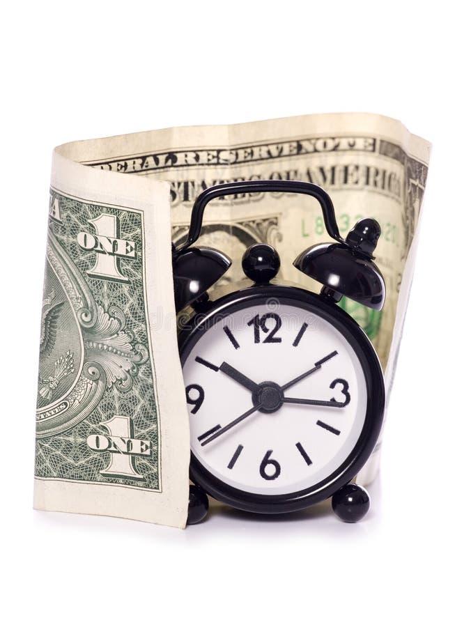 Américain le temps, c'est de l'argent image libre de droits