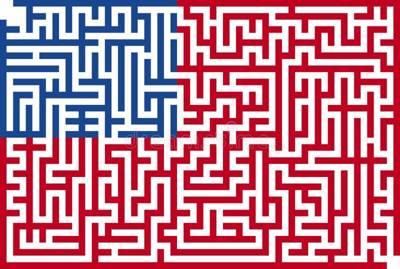 Américain Maze Flag illustration de vecteur