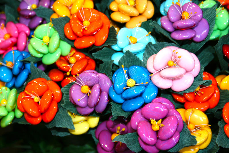 Amêndoa adoçada em Sulmona fotografia de stock royalty free