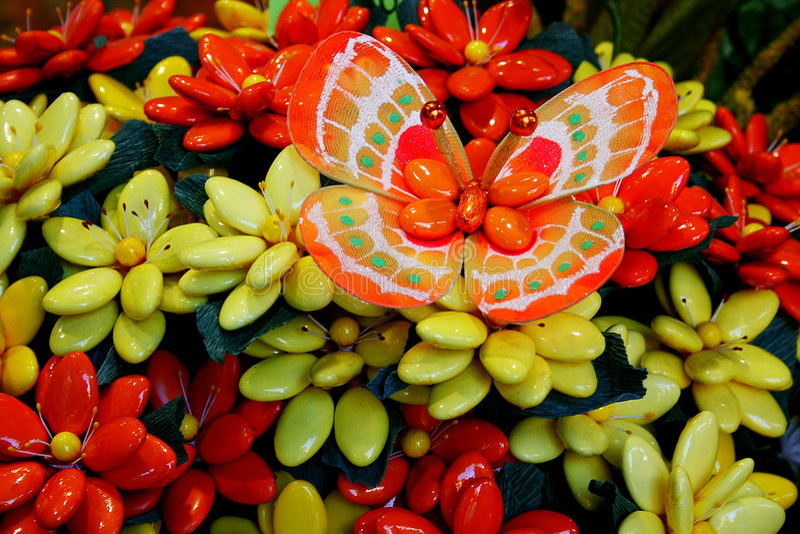 Amêndoa adoçada em Sulmona. fotografia de stock royalty free