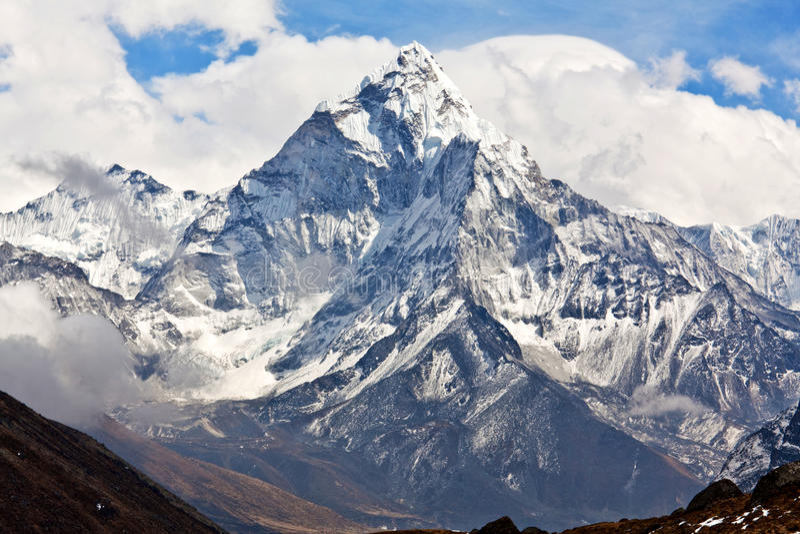 Ama Dablam-Berg in Nationalpark Sagarmatha, Everest-Region, Ne stockbilder