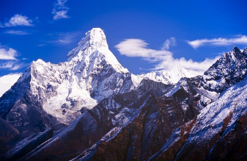 Ama Dablam, Nepal Himalayagebergte royalty-vrije stock afbeeldingen