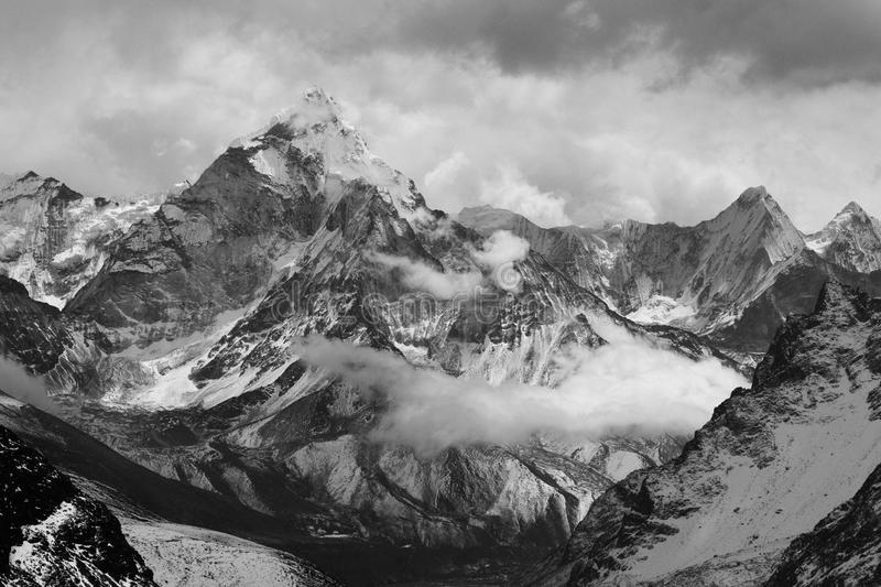 Ama Dablam from Lobuche East Attack Camp stock images