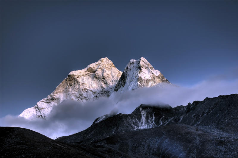 Ama Dablam. mountain in the Himalayas, Nepal stock image