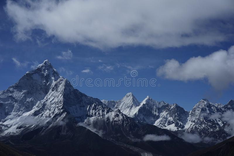 Ama Dablam in Himalayas royalty free stock photography