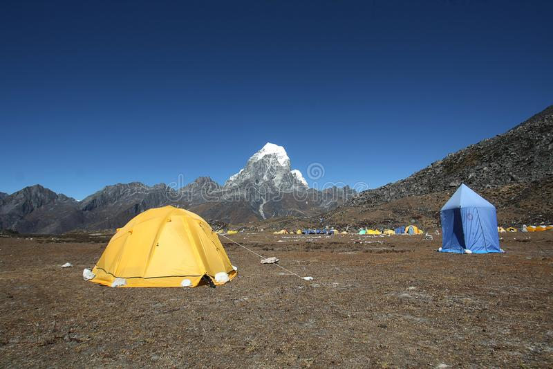 Ama dablambasläger, Nepal arkivfoton