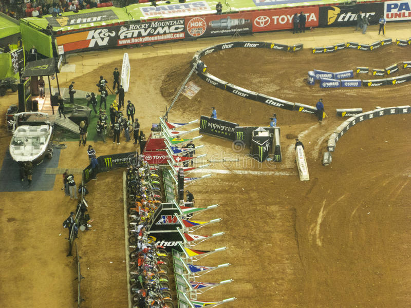 AMA Supercross in Atlanta, Georgia stock images