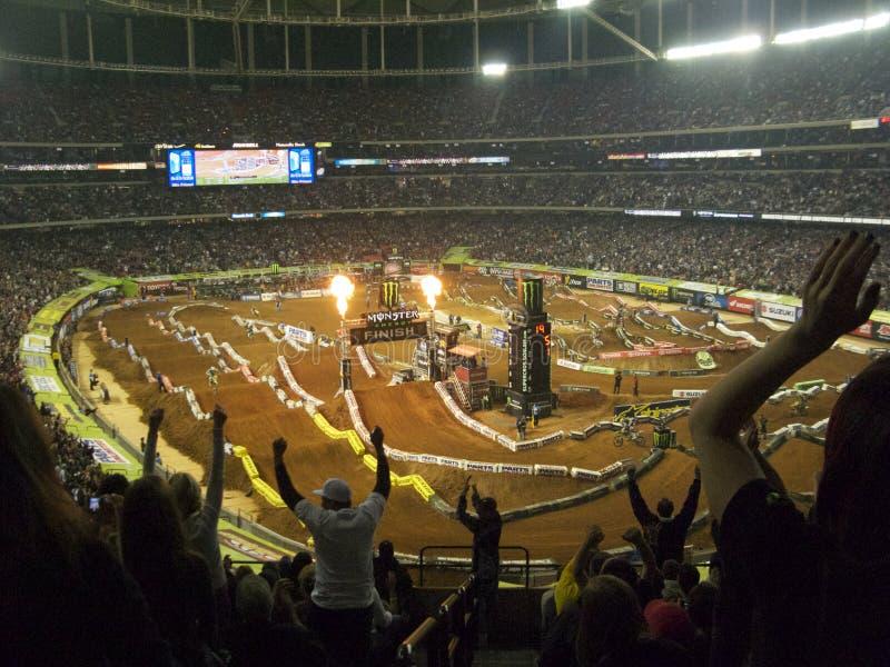 AMA Supercross in Atlanta, Georgia stock photo