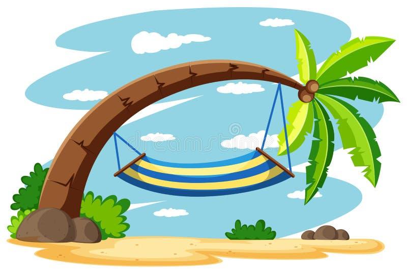Amaca sul cocco royalty illustrazione gratis