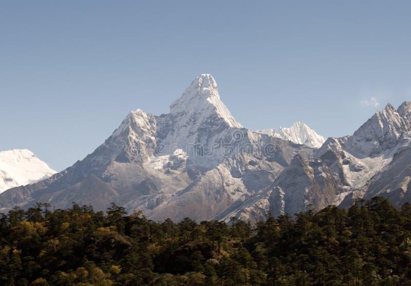 amadablam nepal royaltyfria foton