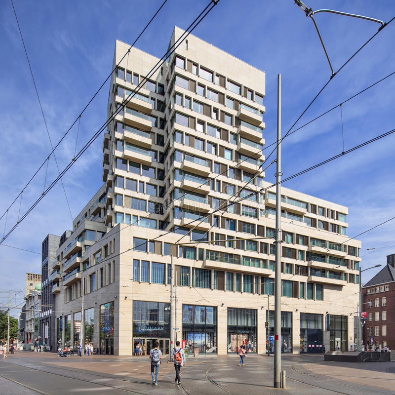 Amadeus building 2014 designed by Bedaux de Brouwer architects, The Hague, Netherlands stock photo