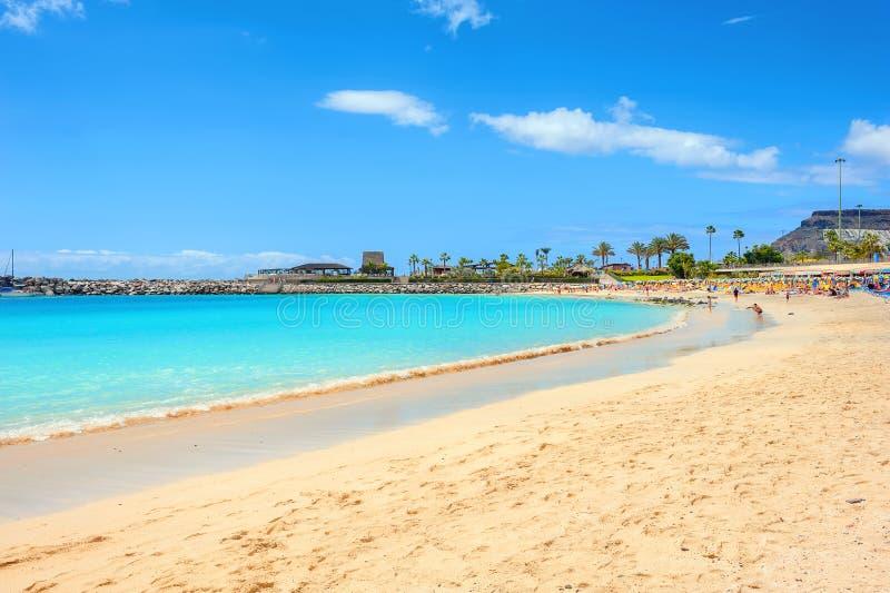 Amadores beach. Gran Canaria, Canary islands, Spain. Famous beach of Amadores. Gran Canaria, Canary islands, Spain stock photos