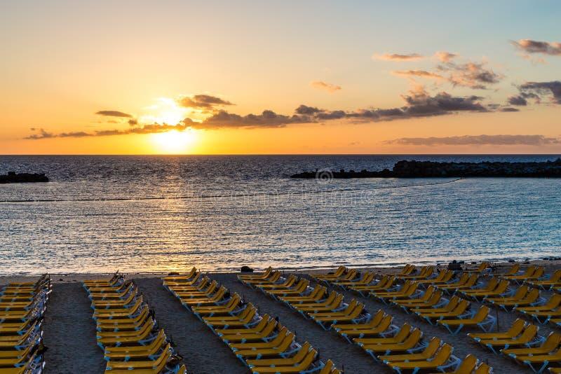 Amadoresstrand - Puerto Rico, Gran Canaria, Spanje royalty-vrije stock afbeelding