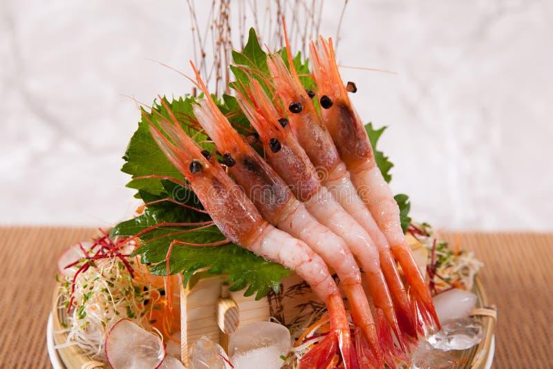 Amaebi (γλυκές γαρίδες) στοκ φωτογραφία