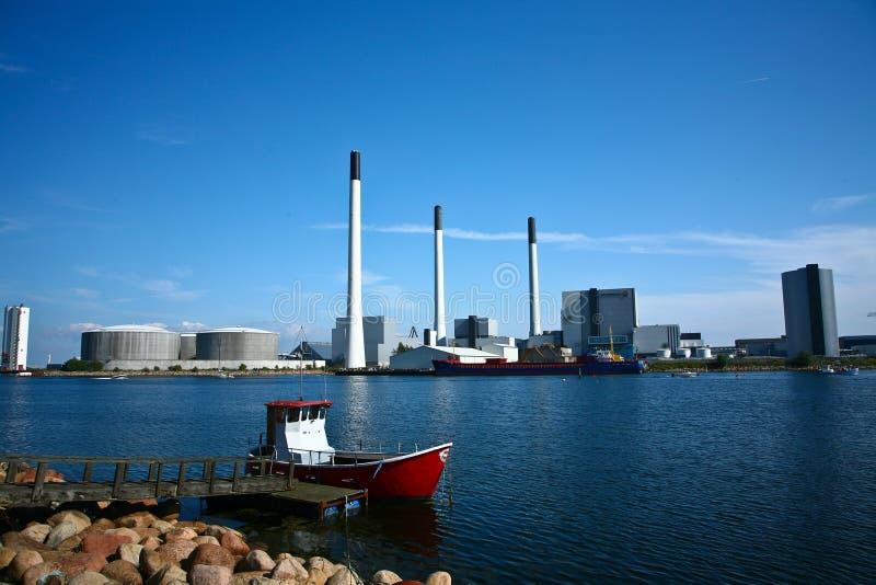 AMAGER elektrownia Vattenfall zdjęcia stock