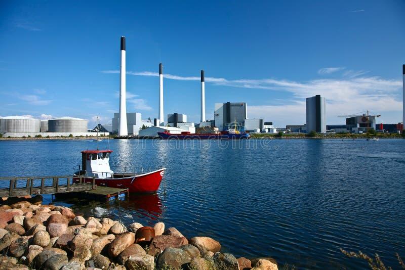 AMAGER elektrownia Vattenfall obraz royalty free