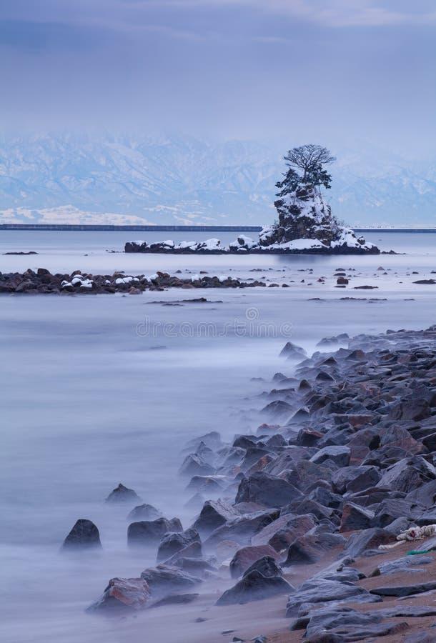 Amaharashi kust och Tateyama bergområde royaltyfri fotografi