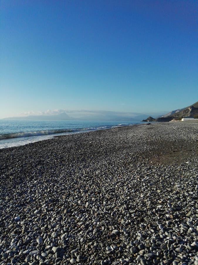 Amaizing-Ansicht über tyrrhenisches Meer stockfotos