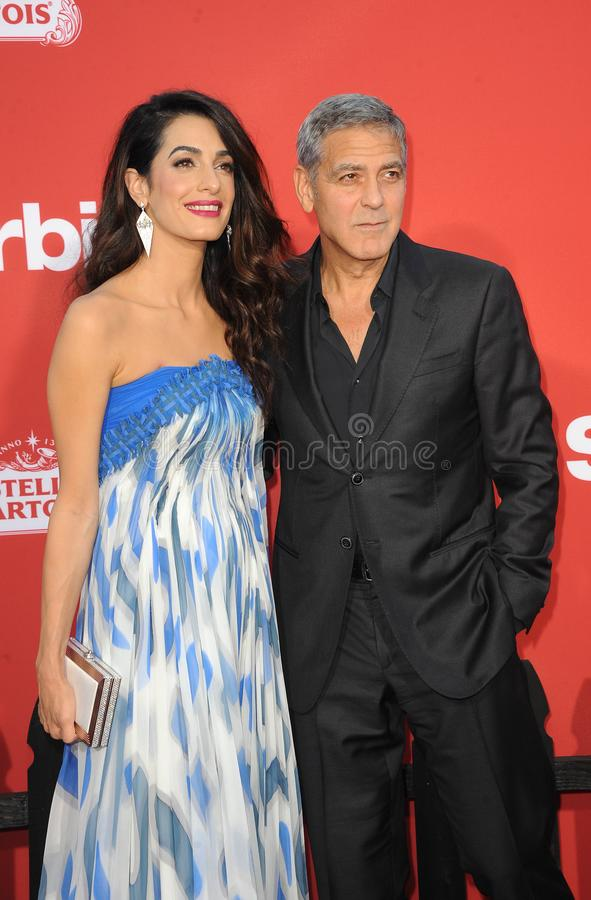 George Clooney And Amal Clooney Editorial Image - Image of