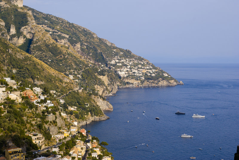 Amalf de Praiano Vettica La Costa imagens de stock
