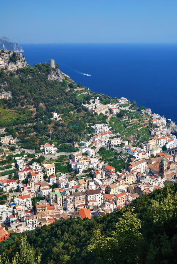 Download Amalfi from Above stock image. Image of tree, village - 21885691