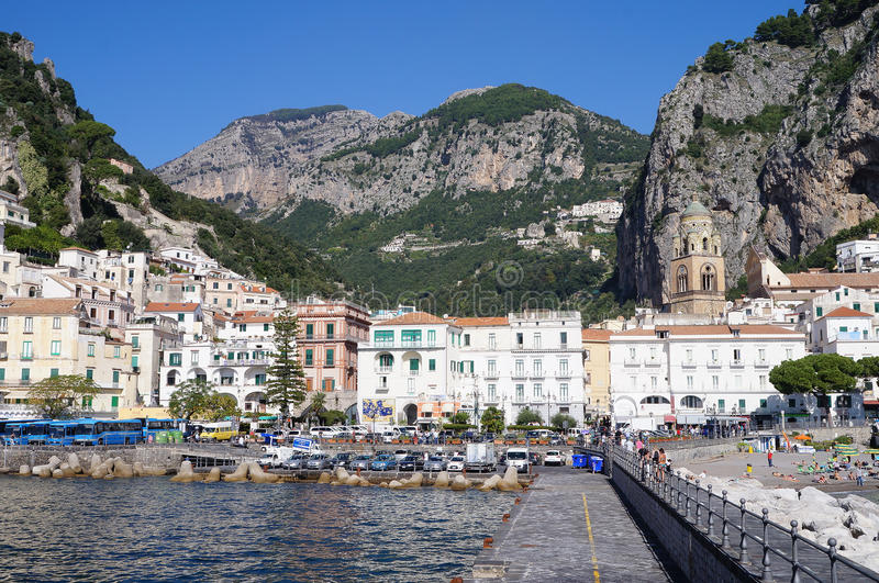 Amalfi,the beautiful town stock images