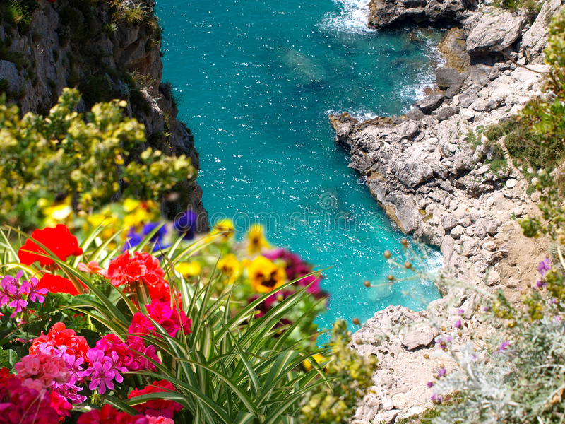Amalfi Coast Capri Italy stock image